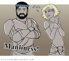 Dragon age Origins Flower manliness by Aztarieth