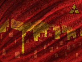 Red city gauze by Ctrela