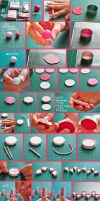 clay pink cake tutorial by cihutka123