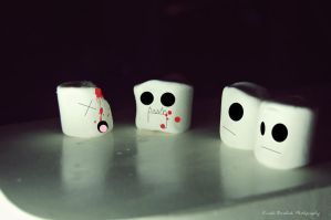 .Marshmallow Cannibalism. by mysticmoon13