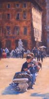 ROMANZA-Piazza Navona-PAINTING by AstridBruning