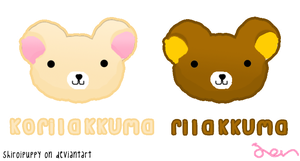 korilakkuma and rilakkuma by shiroipuppy