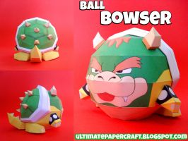 Ball Bowser Papercraft by squeezycheesecake