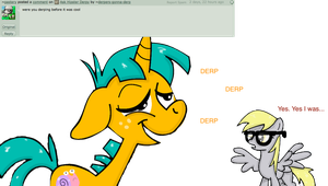 Ask Hipster Derpy 006 by Derpers-Gonna-Derp