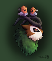 Gogoat and Fletching by PokeGirl5
