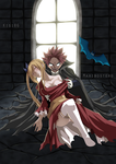 Natsu and Lucy Halloween by Maxibostero