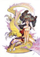 Girl with Yellow Dragon by EnriqueFernandez