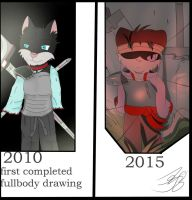 from the begining, 5 year comparison by ZWolfArt