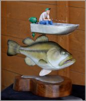 Bass with fisherman by RandyHand