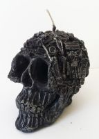 techno skull candle by richardsymonsart