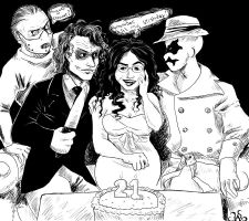 Comish: Party for Four by HollyAReid