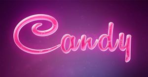 Candy text effect by Free-designs-net