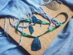 Blue - Green Set with Leafs by ChrisOnly