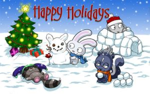 Happy Holidays from Kina-Ink by kina