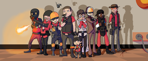 Game art: Team Fortress 2 Kids by o0Syringes0o