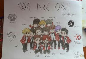 EXO~ WE ARE ONE ! by SilverFox710