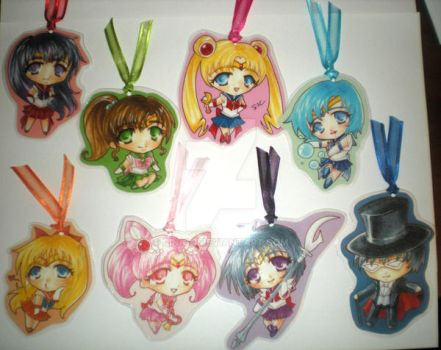 Sailor Moon Bookmarks-Batch 1 by rin-go