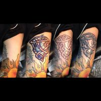 step by step freehand knot tattoo design by yayzus