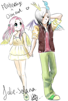 Fluttershy and Discord. (Humanized) by Feather-Dream