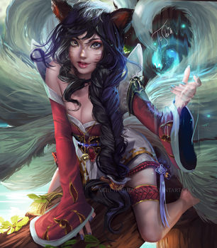 Ahri   League of Legends by Toshia-san