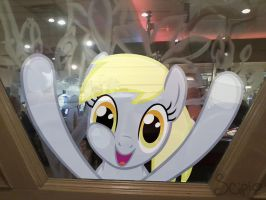 Derpy in a Window by KiwiLeeScipio