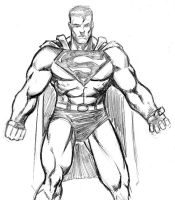Superman Sketch by 3XLT
