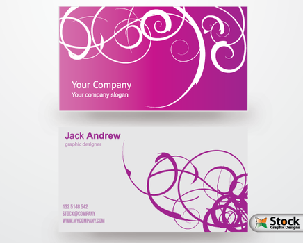 Free Business Card Vector Templates by Stockgraphicdesigns