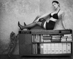 In the 50's with the cat 1 by Helenabw