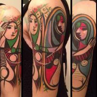 Picasso's 'Girl Before a Mirror' tattoo by allentattoo