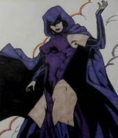 Raven from Teen Titans (comic book) by ThoraLillianna
