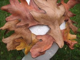 fall green man mask by SilverCicada