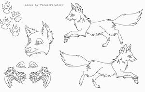 MS Paint Friendly Wolf-Fox Ref by TikamiHasMoved