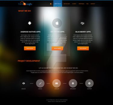 Case Study for a Mobile App Firm / What We Do by nightcreatives
