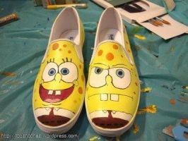 Sponge Bob Shoes by RodsnCones