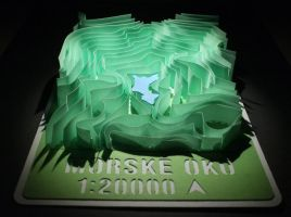 Lake Morske Oko 3D Paper Model by petervojtek