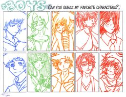 Favorite Boy Characters by anAngelNamed-Xavi