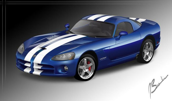 Dodge Viper Vector by DesertViper