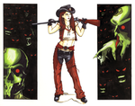 On The Zombie Ranch by artofdawn
