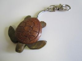 Lignum vitae and sapele turtle keychain by DMSscroller