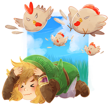 Cucco Attack by staypee