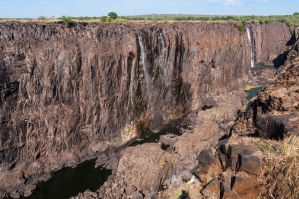 Victoria Falls without water by Chrysomela