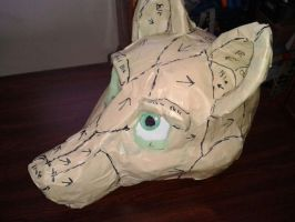 Fursuit head WiP 17.1 by Inashne117