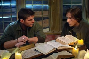 Hunters: Dean and SamWinchester by Glass-Owl