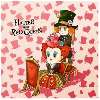 Hatter and Red Queen by amoykid