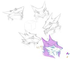Fluffy Sergal head reference by bomb0