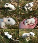 Posable Needle Felted Dumbo Mouse by SnowFox102