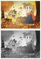 Children In The Leaves by WHATiFGirl