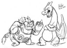 -- Emboar and Charizard --
