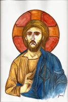 Christ Pantocrator by fmr0