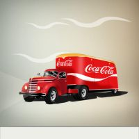 Camion antiguo de Coca-Cola PSD by GianFerdinand